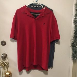Nautica red polo shirt